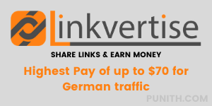 earn 8-11 € per thousand views with linkvertise url shortner