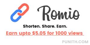 romio - اربح حتى 5.05 دولارًا مقابل 1000 مشاهدة
